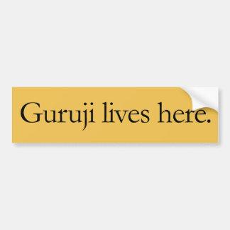 Adesivo Para Carro Guruji vive aqui grande etiqueta