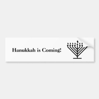 Adesivo Para Carro Hanukkah está vindo - autocolante no vidro