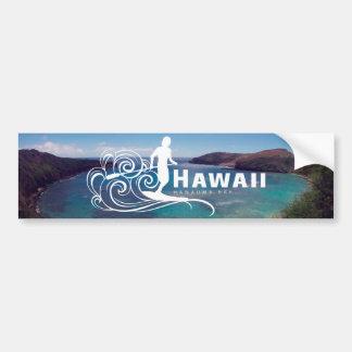 Adesivo Para Carro Havaí levanta-se a pá e a baía de Hanauma