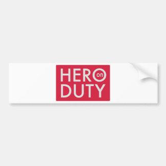 Adesivo Para Carro Hero on Duty