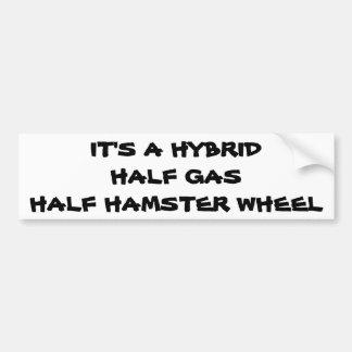 Adesivo Para Carro Híbrido: Roda do hamster do meio gás meia