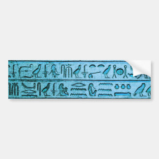 Adesivo Para Carro Hieroglyphs egípcios antigos azuis