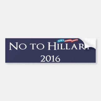 Adesivo Para Carro Hillary Clinton - não a Hillary 2016