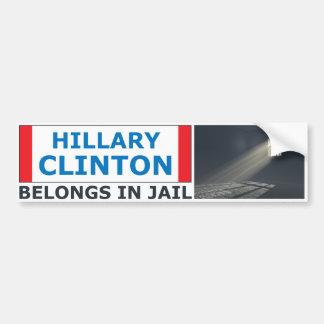 Adesivo Para Carro Hillary Clinton pertence na cadeia