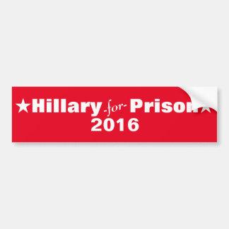 Adesivo Para Carro Hillary para a prisão