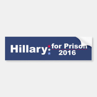 Adesivo Para Carro Hillary para a prisão 2016