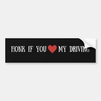 Adesivo Para Carro Honk se você coração meu autocolante no vidro