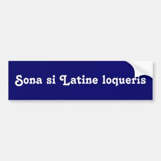 Adesivo Para Carro Honk se você fala o latino
