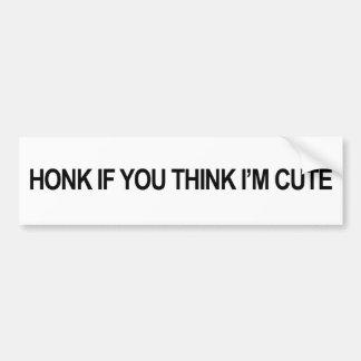 Adesivo Para Carro Honk se você pensa que eu sou bonito