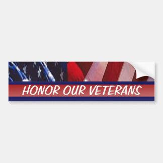 Adesivo Para Carro Honre nossas forças armadas patrióticas dos