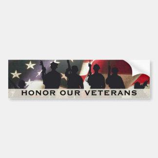Adesivo Para Carro Honre nossos veteranos militares