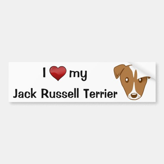 Adesivo Para Carro I love my Jack Russell Terrier