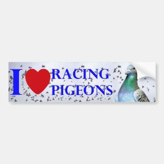 Adesivo Para Carro I love racing pigeons