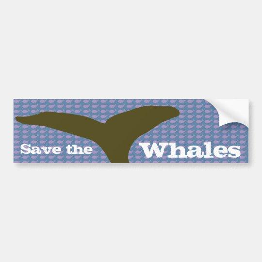 Adesivo Para Carro I love whales