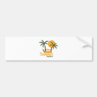 Adesivo Para Carro Ilha tropical do feriado das férias de verão com