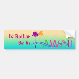Adesivo Para Carro Ilhas de Havaí
