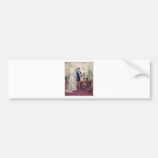 Adesivo Para Carro Ilustração dos noivos do vintage