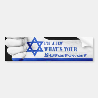 Adesivo Para Carro Im um judeu o que é seu poder super