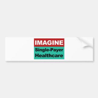 Adesivo Para Carro Imagine únicos cuidados médicos do pagador