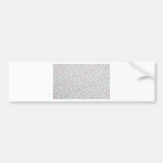 Adesivo Para Carro impressão animal da selva da chita do rosa de bebê