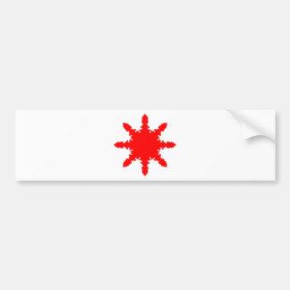 Adesivo Para Carro Impressão circular vermelho