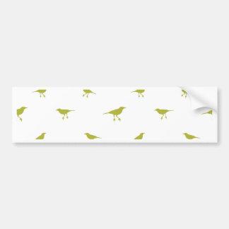 Adesivo Para Carro Impressão da silhueta dos pássaros