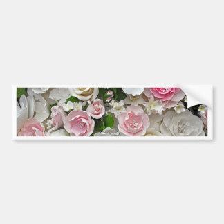 Adesivo Para Carro Impressão floral do rosa e o branco