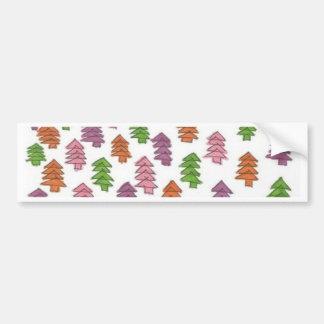 Adesivo Para Carro Impressão infinito dos pinheiros da floresta
