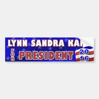Adesivo Para Carro Independente 2016 do presidente eleição de Lynn S