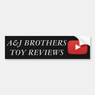 Adesivo Para Carro irmãos youtube do a&j