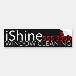 Adesivo Para Carro iShine. Promocional da limpeza da casa da limpeza
