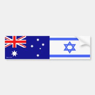 Adesivo Para Carro Israelita & australiano embandeira o autocolante