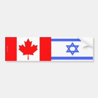 Adesivo Para Carro Israelita & canadense embandeira o autocolante no