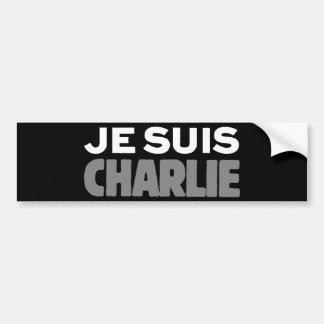 Adesivo Para Carro Je Suis Charlie - eu sou preto de Charlie