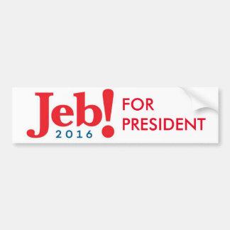 Adesivo Para Carro Jeb Bush para o autocolante no vidro traseiro 2016