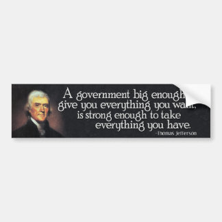 Adesivo Para Carro Jefferson: Beware do governo grande