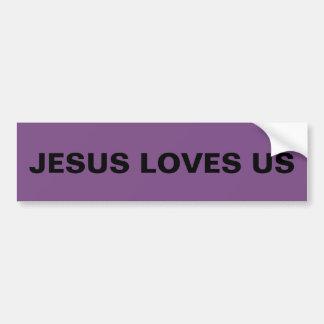 """Adesivo Para Carro """"Jesus ama-nos"""" autocolante no vidro traseiro"""