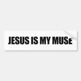 Adesivo Para Carro Jesus é minha vara do pára-choque do musa