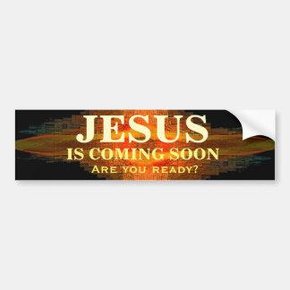 Adesivo Para Carro JESUS ESTÁ VINDO LOGO autocolante no vidro