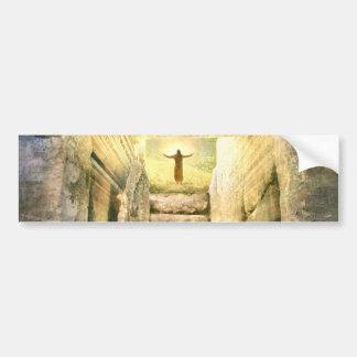 Adesivo Para Carro Jesus na ressurreição vazia da páscoa do túmulo