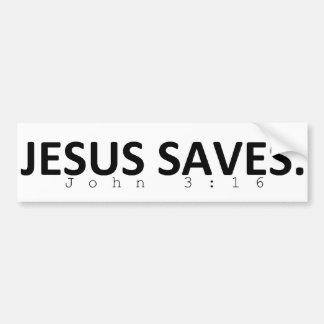 Adesivo Para Carro Jesus salvar