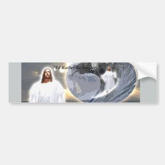 Adesivo Para Carro Jesus surfando Bumpersticker