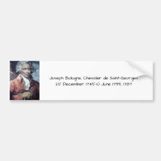 Adesivo Para Carro Joseph Bologne, Cavaleiro de Santo-Georges
