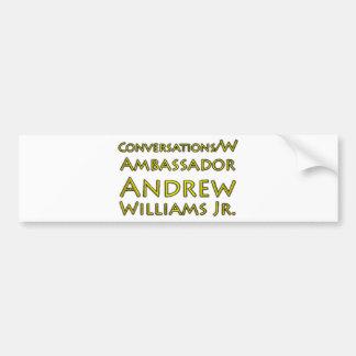 Adesivo Para Carro Jr. das conversações w/Ambassador Andrew Williams