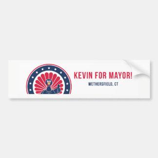 Adesivo Para Carro Kevin para o Mayor do autocolante no vidro
