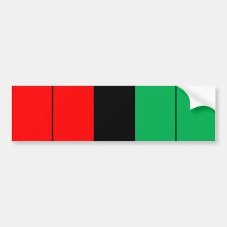 Adesivo Para Carro Kwanzaa colore o teste padrão verde preto vermelho