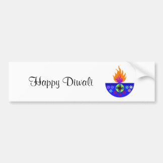Adesivo Para Carro Lâmpada colorida Diya de Diwali