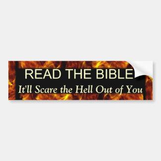 Adesivo Para Carro Leia o humor religioso engraçado da bíblia