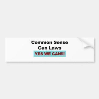 Adesivo Para Carro Leis da arma do senso comum - sim nós podemos!