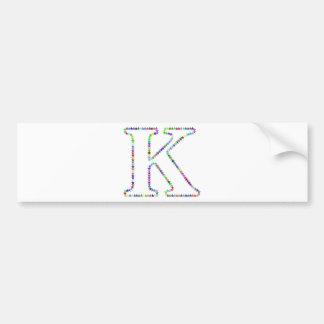 Adesivo Para Carro Letra K da estrela do arco-íris
